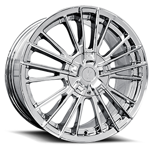 V10 Influx Chrome 5 lug