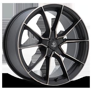 V18 Verve Satin Black Machined Dark Tint 5 lug