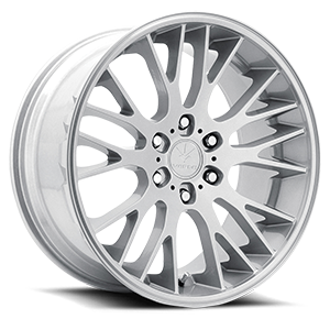 V22 Duo Satin Silver Machined 6 lug