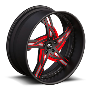Victorino Red with Black Lip 5 lug
