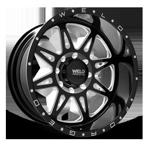 Weld XT Cheyenne 8 8 Black Milled Contrast Cut
