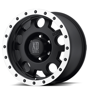 XD Series by KMC XD125 Enduro 6 Matte Black w/ Machined Bead Lock