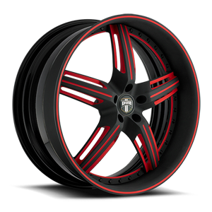 X-58 Matte Black w/ Red Accents 5 lug
