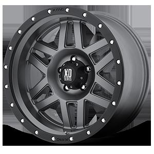XD128 Machete Matte Gray w/ Black Ring 5 lug