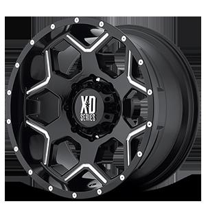 XD812 Crux Gloss Black Milled 8 lug