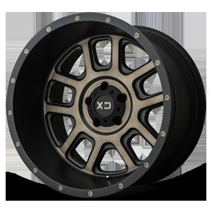 XD828 Delta Matte Black w/ Dark Tint Clear 5 lug