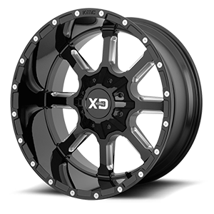 XD838 Mammoth Gloss Black Milled 6 lug