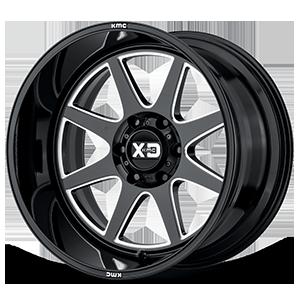 XD844 Pike Gloss Black Milled 6 lug