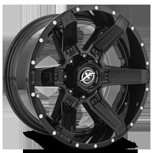 XF Off-Road XF-214 5 Gloss Black w/ Gloss Black Inserts - 20x10