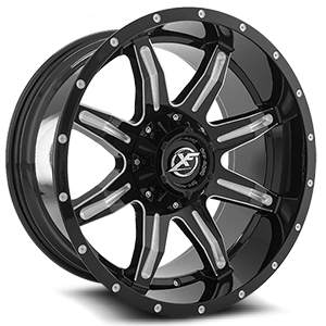 XF Off-Road XF-215 5 Gloss Black & Milled