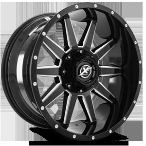 XF Off-Road XF-219 5 Gloss Black Milled - 20x10