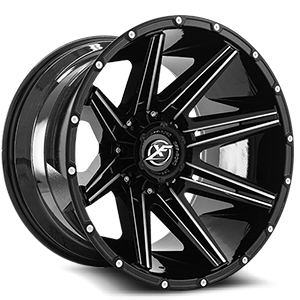 XF-220 Gloss Black & Milled 5 lug