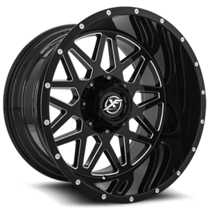 XF Off-Road XF-211 6 Gloss Black Milled