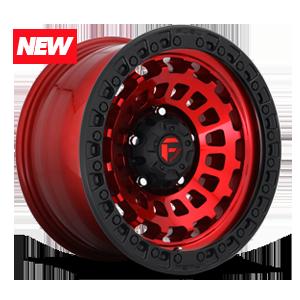 Zephyr - D632 Candy Red w/ Matte Black Ring 5 lug