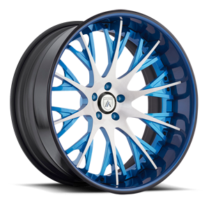 CX825 Brushed and Blue 5 lug