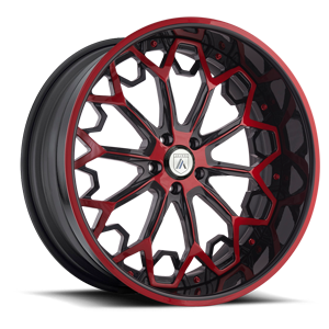 AF829 Red and Black 5 lug