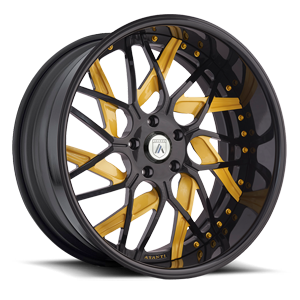 AF832 Black and Yellow 5 lug