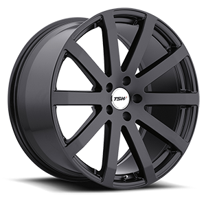 Brooklands Matte Black 5 lug