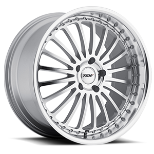 Silverstone Silver with Mirror Cut Face & Lip 5 lug