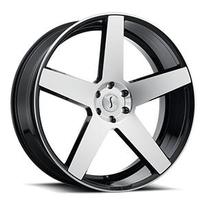 Status Wheels S839 Empire 5 Gloss Black Machined Face