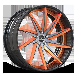 Vona Concave Orange and Black 5 lug