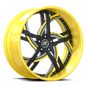 Moderno Yellow/Black 5 lug