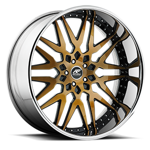 Artista Bronze with Chrome Lip 5 lug