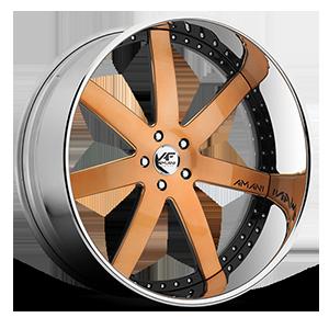 Trinity Orange with Chrome Lip 5 lug
