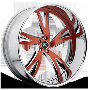 Vorenzo Red with Chrome Lip 5 lug