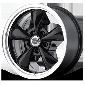 American Racing Custom Wheels AR105M Torq Thrust M 5 Gloss Black w/ Machined Lip