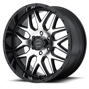 AR910 Gloss Black w/ Machined Face 6 lug