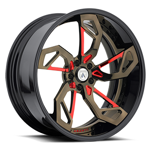 CX806 Brown and Red with Black Lip 5 lug