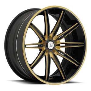 Asanti Forged Wheels C/X Series CX811 5 Gold and Black with Black Lip