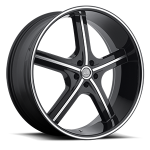U2 Wheels 55A-M 5 Black Machined