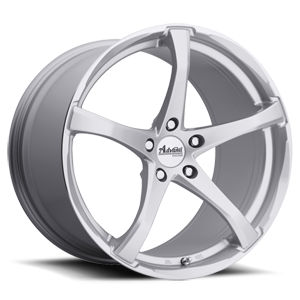 B2 - Denaro Silver with Machined Lip 5 lug