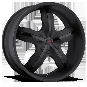 Platinum 212 Widow 5 Matte Black with Gloss Black Inserts