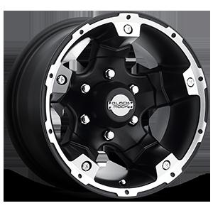Series 900B Viper Black Machined 6 lug