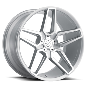 BD-17-5 Silver with Machined Face 5 lug