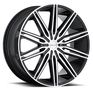 CLV-10 Gloss Black Machined 5 lug