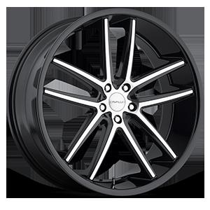 Cavallo Wheels CLV-04 5 Gloss Black Machined