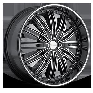 Cavallo Wheels CLV-07 5 Gloss Black Machined