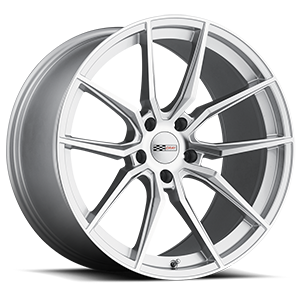 Spider Silver with Mirror Cut Face 5 lug