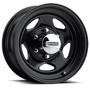 Series 265 Black V-5 Gloss Black 6 lug