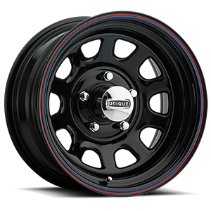 Series 42 Black Black with Red and Blue Pinstripe 5 lug
