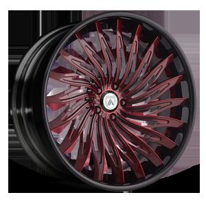 CX824 Red with Black Lip 5 lug