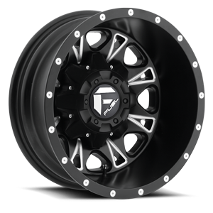 Throttle Dually Rear - D513 Black & Milled 8 lug