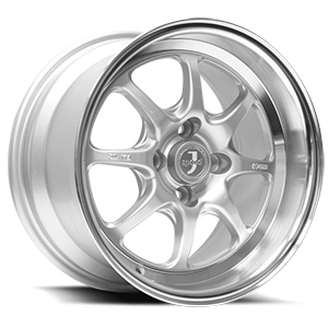 JSpeed Silver with Machined Cut Face & Lip 4 lug