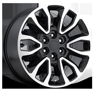 Style 53 Gloss Black Machined Face 6 lug