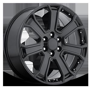 Style 49 Gloss Black 6 lug