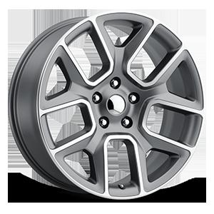 Style 76 Satin Grey Machined Face 5 lug